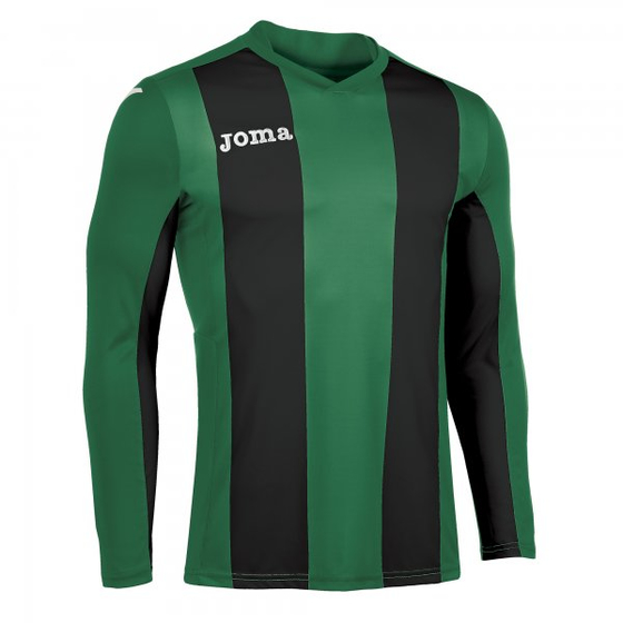 JOMA T-SHIRT PISA GREEN-BLACK  L/S Kids