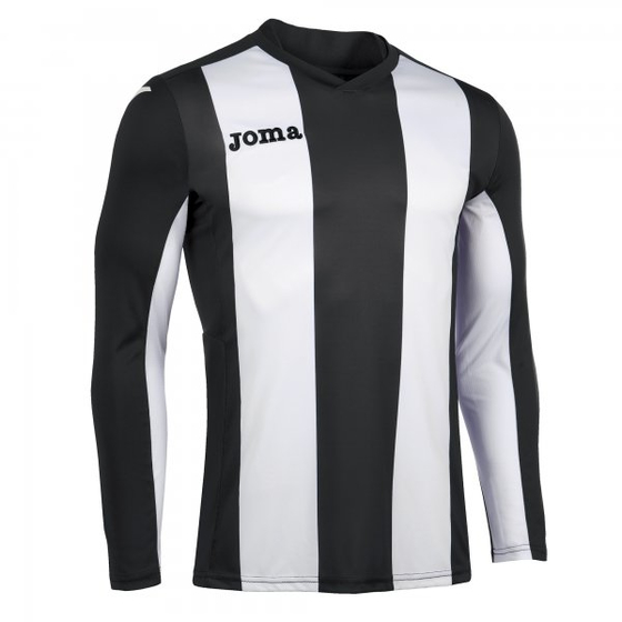 JOMA T-SHIRT PISA BLACK-WHITE L/S