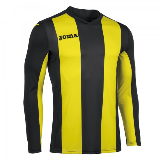 JOMA T-SHIRT PISA  BLACK-YELLOW L/S