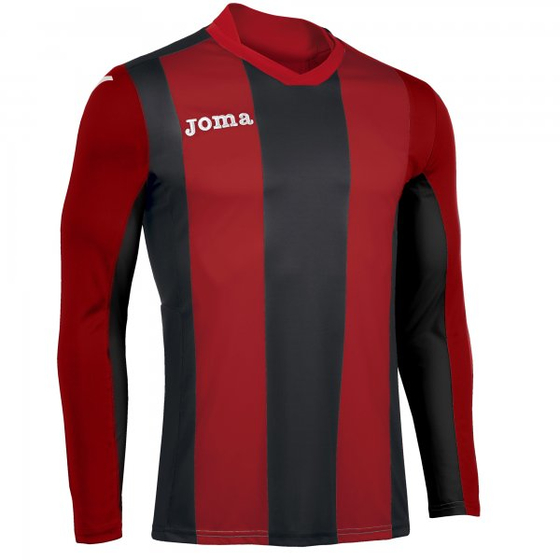 JOMA T-SHIRT PISA  RED-BLACK L/S