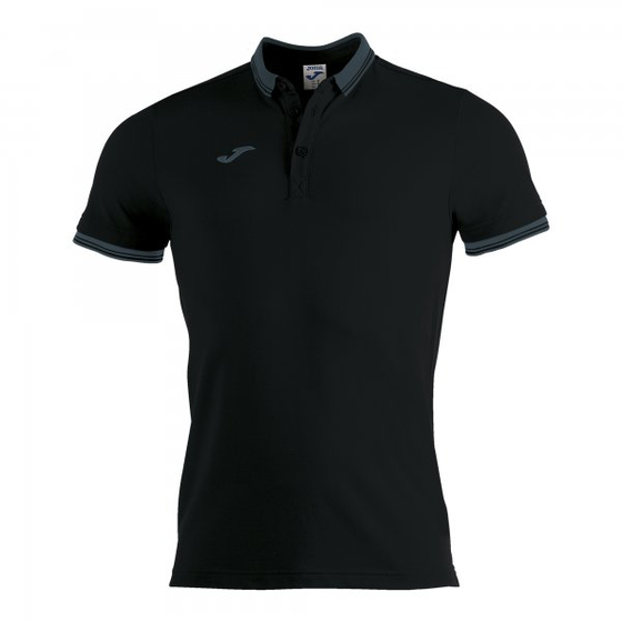 JOMA POLO SHIRT BALI II BLACK S/S