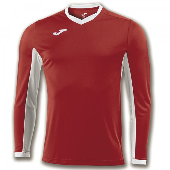 JOMA T-SHIRT CHAMPION IV RED-WHITE L/S