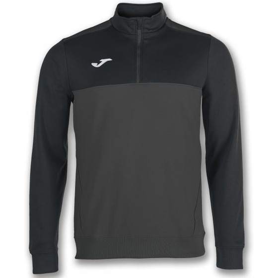 JOMA SWEATSHIRT 1/2 ZIPPER WINNER ANTHRAC.-BLACK