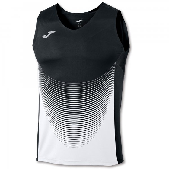 JOMA T-SHIRT ELITE VI BLACK-WHITE SLEEVELESS