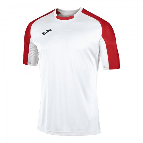 JOMA T-SHIRT ESSENTIAL WHITE-RED S/S