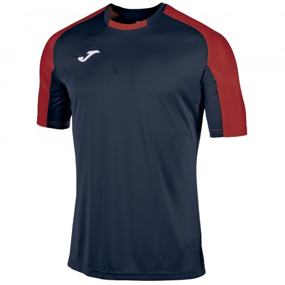 JOMA T-SHIRT ESSENTIAL NAVY-RED S/S