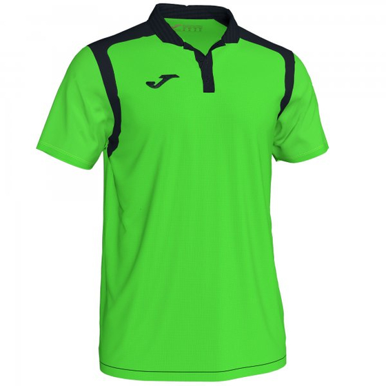 JOMA POLO CHAMPION V FLUOR GREEN-BLACK S/S
