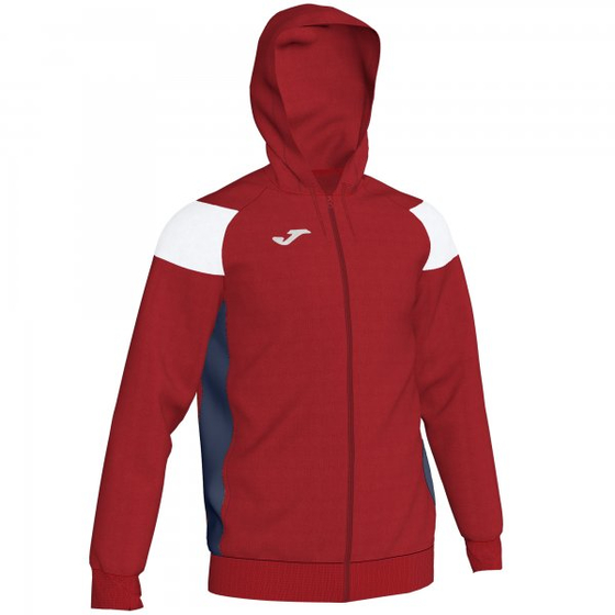JOMA JACKET HOODIE POLY CREW III RED-WH-NAV