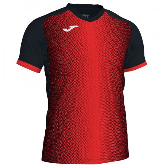 JOMA SUPERNOVA T-SHIRT BLACK-RED S/S