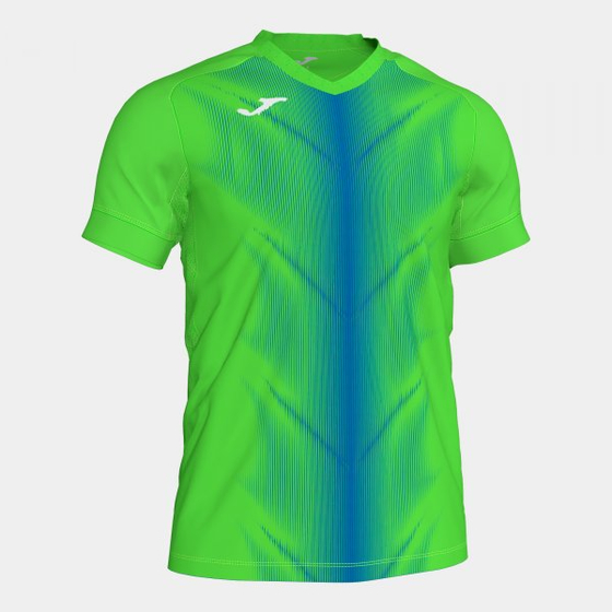 JOMA OLIMPIA T-SHIRT FLUOR GREEN-ROYAL S/S 101370.027