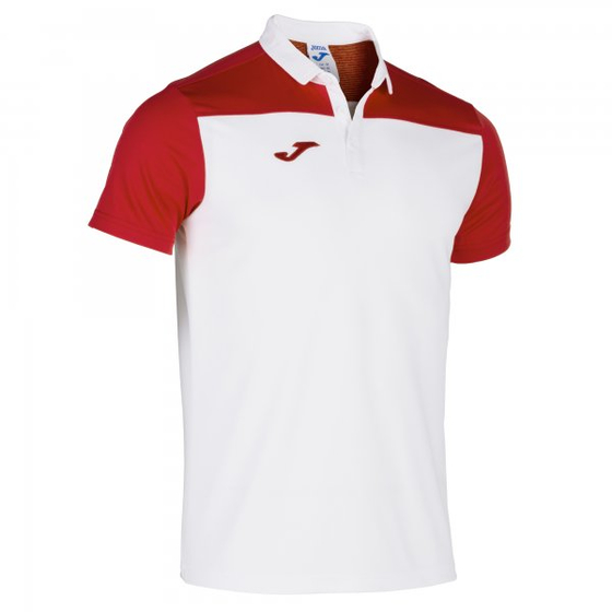 JOMA POLO SHIRT HOBBY II WHITE-RED S/S 101371.206