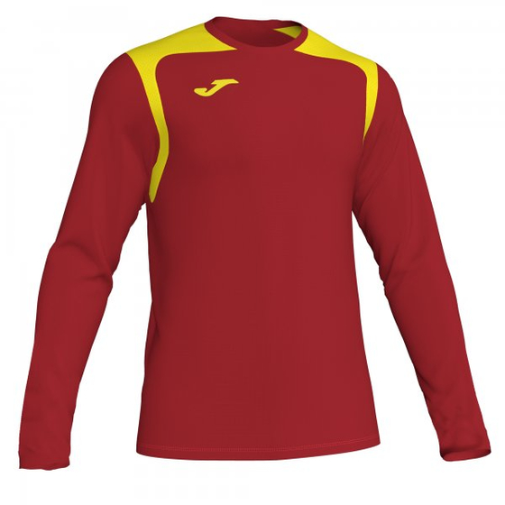 JOMA T-SHIRT CHAMPION V RED-YELLOW L/S