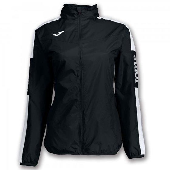 JOMA RAINJACKET CHAMPION IV BLACK-WHITE WOMAN