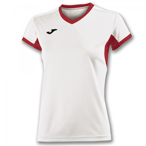 JOMA T-SHIRT CHAMPION IV WHITE-RED S/S WOMAN
