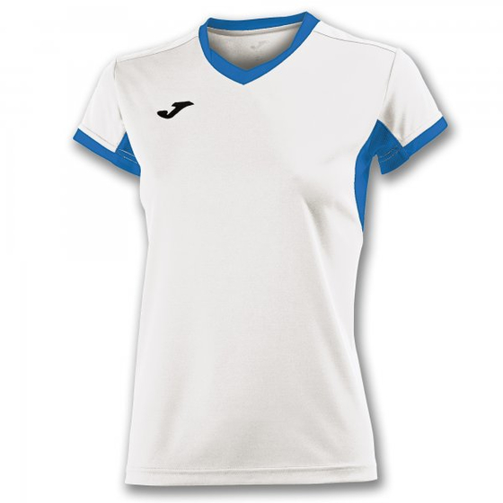 JOMA T-SHIRT CHAMPION IV WHITE-ROYAL S/S WOMAN
