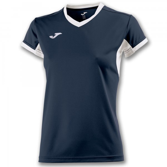 JOMA T-SHIRT CHAMPION IV NAVY-WHITE S/S WOMAN