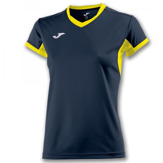 JOMA T-SHIRT CHAMPION IV NAVY-YELLOW S/S WOMAN
