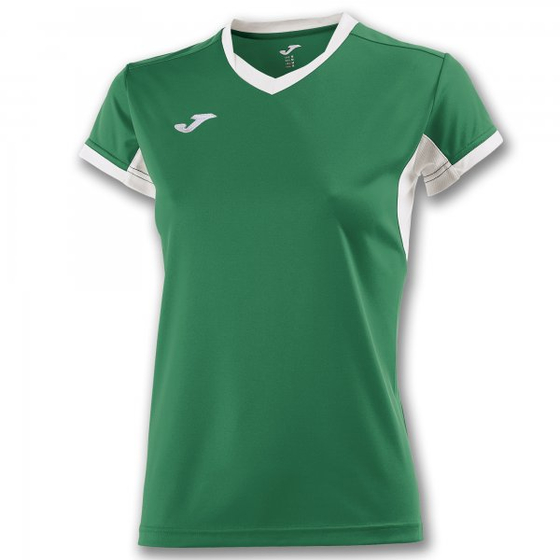 JOMA T-SHIRT CHAMPIONSHIP IV GREEN-WHITE S/S WOMAN 900431.452