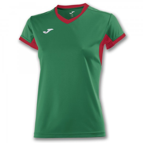 JOMA T-SHIRT CHAMPION IV GREEN-RED S/S WOMAN