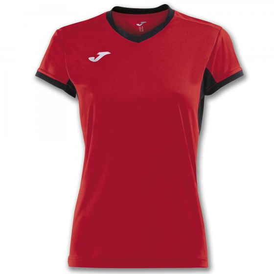 JOMA T-SHIRT CHAMPION IV RED-BLACK S/S WOMAN