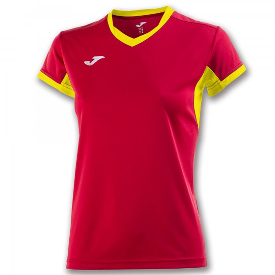JOMA T-SHIRT CHAMPION IV RED-YELLOW S/S WOMAN