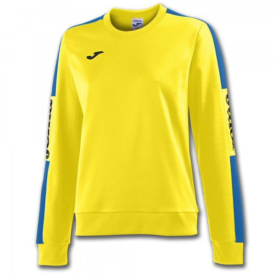 JOMA SWEATSHIRT CHAMPION IV YELLOW-ROYAL WOMAN