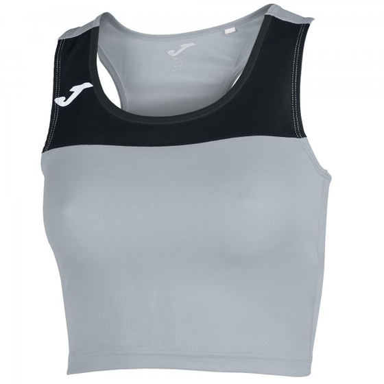 JOMA T-SHIRT RACE WOMAN MELANGE-BLACK SLEEVELESS WOMAN