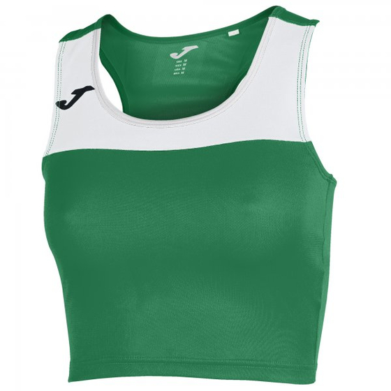 JOMA T-SHIRT RACE WOMAN GREEN-WHITE SLEEVELESS WOMAN