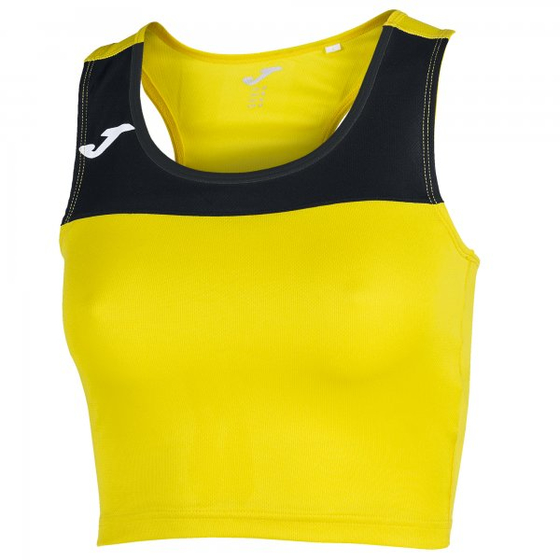 JOMA T-SHIRT RACE WOMAN YELLOW-BLACK SLEEVELESS WOMAN