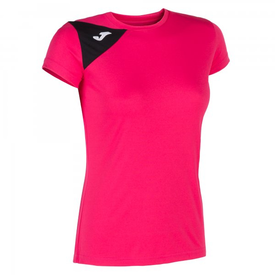 JOMA SPIKE II T-SHIRT FUCHSIA-BLACK S/S WOMAN