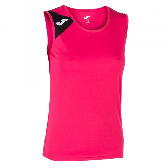 JOMA TSHIRT SPIKE FUCHSIA-BLACK SLEEVELESS WOMAN
