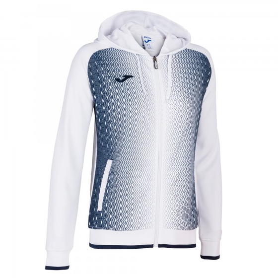 JOMA SUPERNOVA HOODED JACKET WHITE-DARK NAVY WOMAN 900891.203