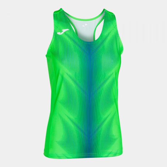 JOMA OLIMPIA T-SHIRT FLUOR GREEN-ROYAL SLEEVELESS WOMAN 900932.027