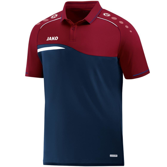 JAKO Kinder Polo Competition 2.0 marine/weinrot 6318K-09