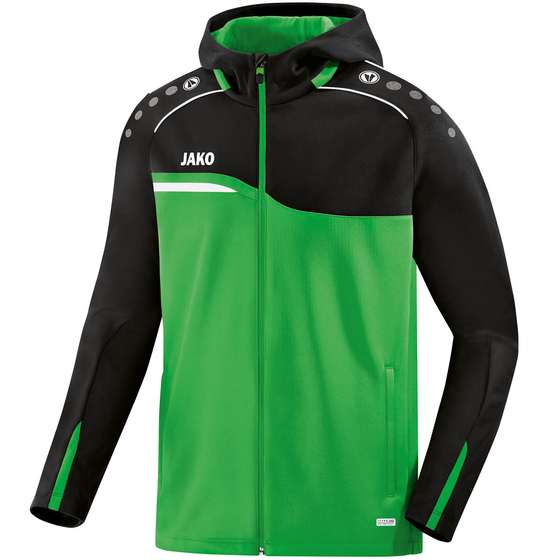 JAKO Kinder Kapuzenjacke Competition 2.0 soft green/schwarz 6818K-22