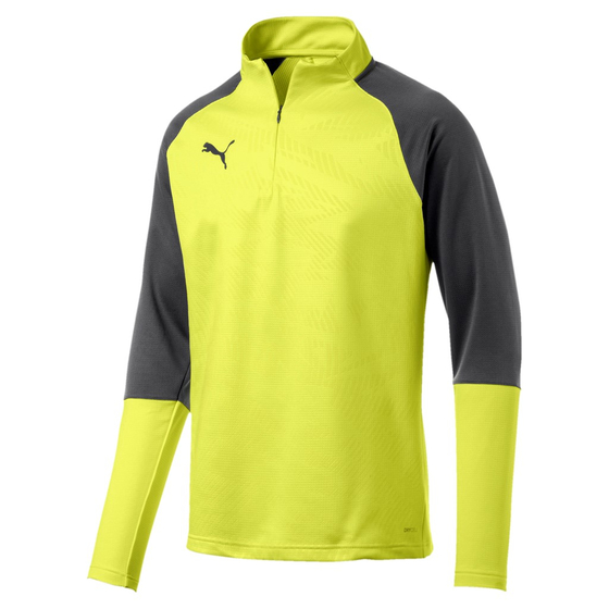 PUMA CUP Training 1/4 Zip T Core Fizzy Yellow-Asphalt 656018-16
