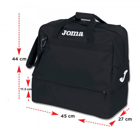 JOMA BAG TRAINING III BLACK -MEDIUM-