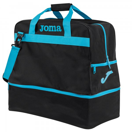 JOMA BAG TRAINING III BLACK-FLUOR TURQUOISE -LARGE-