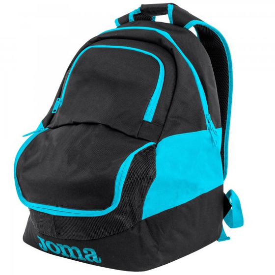 JOMA BACKPACK DIAMOND II BLACK-FLUOR TURQUOISE  400235.116